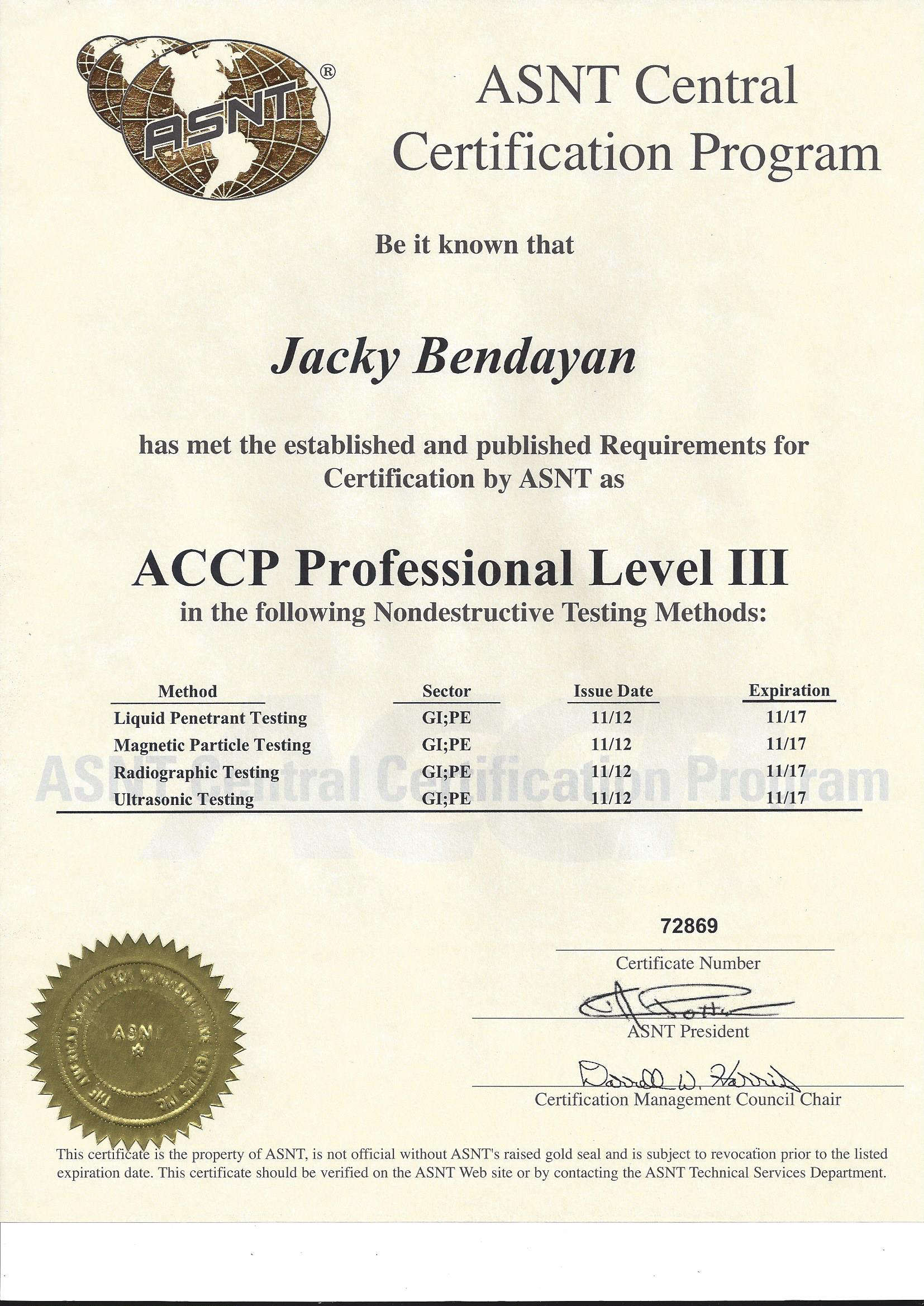 certifications | dayanson